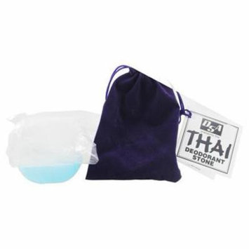 Thai Deodorant Stone with Velvet Pouch by Thai Deodorant Stone (pack of 1)