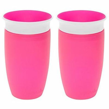 Munchkin Miracle 360 Sippy Cup, Pink, 10 Ounce, 2 Count