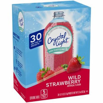Crystal Light with Caffeine Wild Strawberry Drink Mix, 30 count Packets