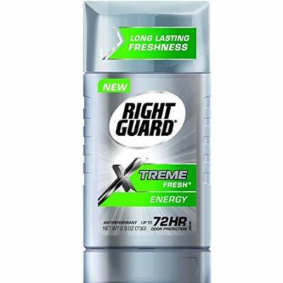 Right Guard Xtreme Fresh Antiperspirant, Energy 2.60 oz (Pack of 6)