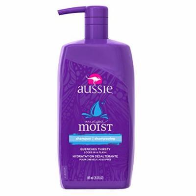 Aussie Shampoo Moist Pump 29.2 Ounce (863ml) (Pack of 2)