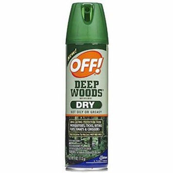 OFF! Deep Woods Dry Aerosol Spray Insect Repellent 4 oz (Pack of 4)