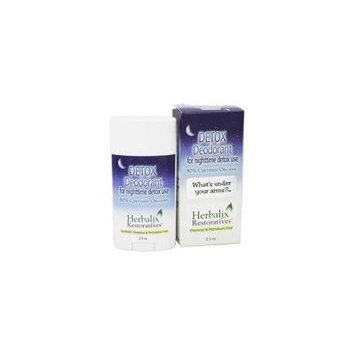 Detox Deodorant For Nighttime Detox Use - 2.5 oz. by Herbalix Restoratives (pack of 4)