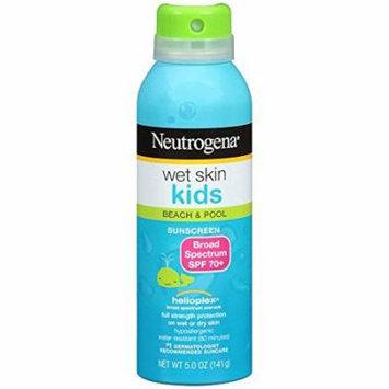 Neutrogena Wet Skin Kids Sunscreen Spray Broad Spectrum Spf 70+, 5 Oz. (Pack of 4)