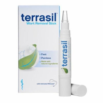 Terrasil® Wart Removal Stick with All-Natural Activated Minerals® for the Painless Removal of Common and Plantar Warts (1 stick)