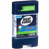 Right Guard Sport Clear Gel Antiperspirant, Fresh, 3 Ounce (Pack of 6)