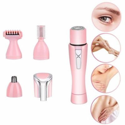 VBESTLIFE Eyebrow Shaver Hair Trimmer,4-in-1 Portable Mini Electric Shaving Women Cutter Rotating Nose Ear Hair Eyebrow Trimmer Set