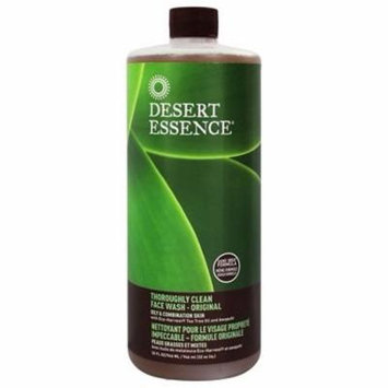 Thoroughly Clean Face Wash with Tea Tree Oil and Awaphuhi - 32 fl. oz. by Desert Essence (pack of 4)