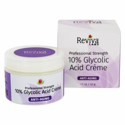 Professional Strength 10% Glycolic Acid Anti-Aging Creme - 1.5 oz. by Reviva Labs (pack of 3)