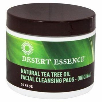Natural Facial Cleansing Pads with Tea Tree Oil - 50 Pad(s) by Desert Essence (pack of 6)