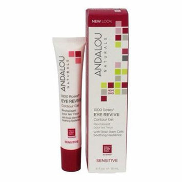 1000 Roses Eye Revive Contour Gel with Rose Stem Cells - 0.6 oz. by Andalou Naturals (pack of 2)