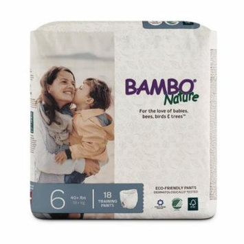 Bambo Nature Premium Baby Training Pants, Size 6 (40+ lbs), 180 Count (2 Cases of 90)