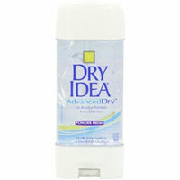 Dry Idea Advanced - Clear Gel Anti-Perspirant & Deodorant, Powder Fresh, 3-Ounce Tube (Pack of 6)