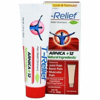 T-Relief Ointment Arnica +12 Natural Ingredients - 1.76 fl. oz. Formerly BHI/Heel - Traumeel Ointment by MediNatura (PACK OF 3)