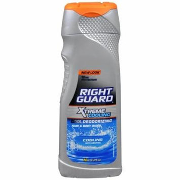 Right Guard Xtreme Cooling Hair and Body Wash, Cooling with Menthol, 16 fl oz (Pack of 2)