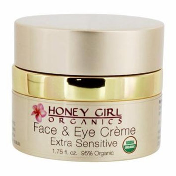 Organic Face & Eye Cream Extra Sensitive - 1.75 oz. by Honey Girl Organics (pack of 4)