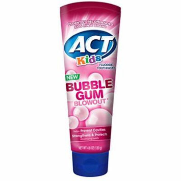 ACT Kids Bubblegum Blowout Toothpaste 4.6 ounce (Pack of 2)