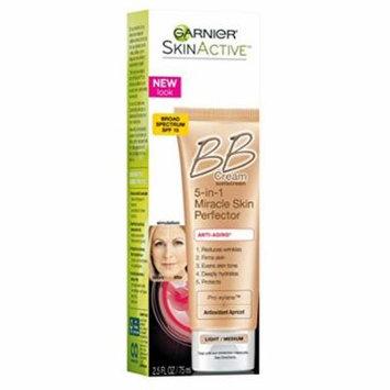Garnier Bb Cream 5-In-1Miracle Skin Perfector Light/Medium 2.5 Ounce (73ml) (2 Pack)
