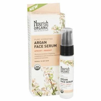Organic Pure Hydrating Argan Face Serum Apricot + Rosehip - 0.7 oz. by Nourish (pack of 2)