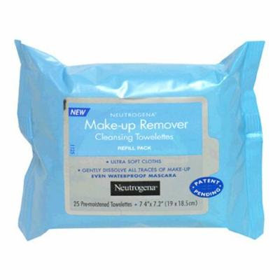 Neutrogena Makeup Remover Cleansing Towelettes, Refill Pack, 25 Count (Pack of 3)