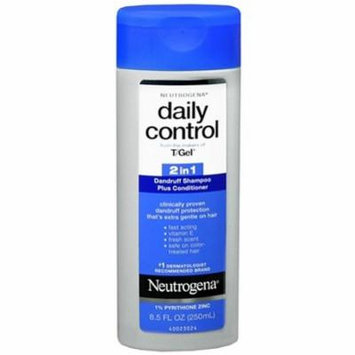 Neutrogena T Gel Daily Control 2-in-1 Dandruff Shampoo Plus Conditioner 8.5OZ (Pack of 6)