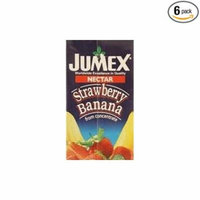 Jumex Fruit Nectar 33.8oz Carton (Pack of 6) Choose Flavor Below (Strawberry-Banana)