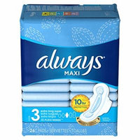 Always Pads Maxi Extra-Long Size 3 - 26 Count Super (2 Pack)