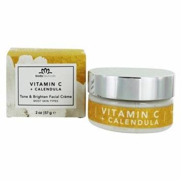 Tone & Brighten Facial Creme Vitamin C Ester + Calendula - 2 oz. by Bodyceuticals (pack of 2)