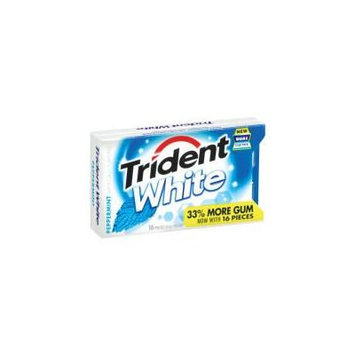 Trident White Peppermint Sugar Free Gum , 16 Pieces (Pack of 9)