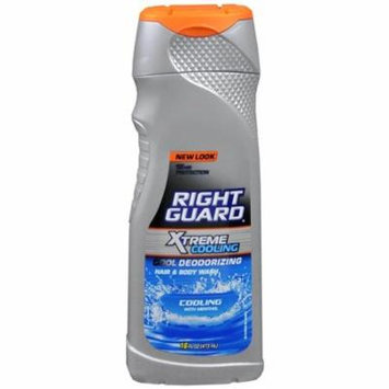 Right Guard Xtreme Cooling Cool Deodorizing Hair and Body Wash Cooling with Menthol 16 Fl Oz - 4 Ea