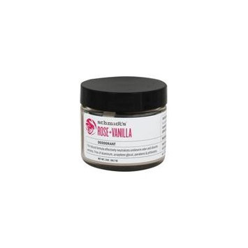 Natural Deodorant Jar Rose + Vanilla - 2 oz. by Schmidt's (pack of 2)