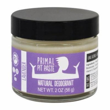 Natural Deodorant Jar Lavender - 2 oz. by Primal Pit Paste (pack of 3)