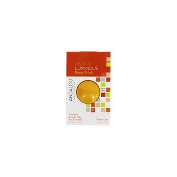 Instant Luminous Clay Face Mask Turmeric & Gold Clay - 0.28 oz. by Andalou Naturals (pack of 12)
