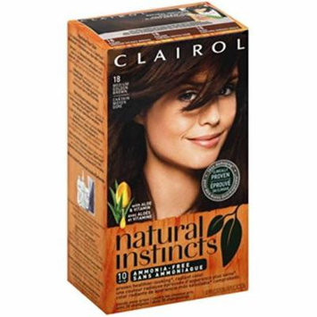 Clairol Natural Instincts, 5G / 18 Pecan Medium Golden Brown, Semi-Permanent Hair Color, 1 Kit (Pack of 4)