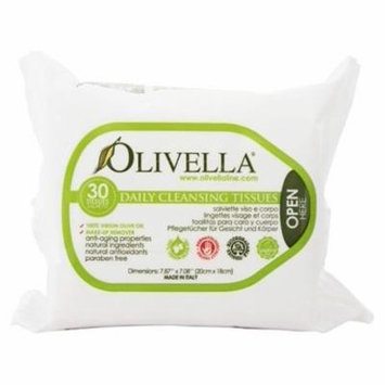 Daily Facial Cleansing Tissues - 30 Tissue(s) by Olivella (pack of 1)