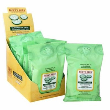 Facial Cleansing Towelettes Cucumber & Sage - 10 Towelette(s) by Burt's Bees (pack of 6)
