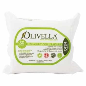 Daily Facial Cleansing Tissues - 30 Tissue(s) by Olivella (pack of 4)