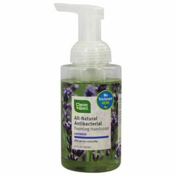 Natural Antibacterial Foaming Hand Wash Lavender & Absolute - 9.5 fl. oz. by CleanWell (pack of 6)