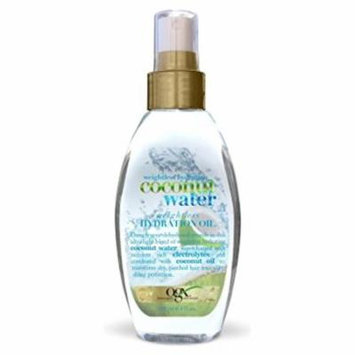 OGX Weightless Hydration Coconut Water Oil, 4 Ounce (Pack of 6)