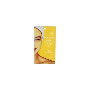 Vitamin C Brightening Clay Facial Mask Turmeric & Kale - 0.35 oz. by DERMA-E (pack of 4)