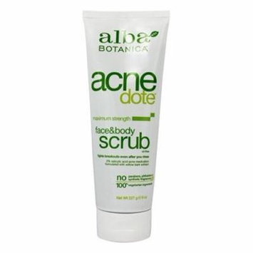 Natural Acnedote Face & Body Scrub - 8 oz. by Alba Botanica (pack of 12)