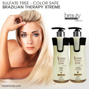 Keratin Cure Brazilian BTX Brazilian Therapy Xtreme daily use Shampoo Conditioner set with Argan oil Biotin SULFATE FREE protect Color Enhance Hair Growth prevent Hair Loss (460ml/ 15 oz)