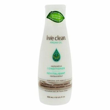 Restorative Conditioner Argan Oil - 12 fl. oz. by Live Clean (pack of 12)