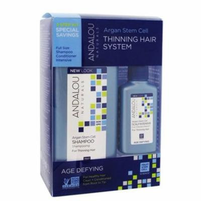 Argan Stem Cell Age Defying Thinning Hair System Kit - 3 Piece(s) by Andalou Naturals (pack of 1)