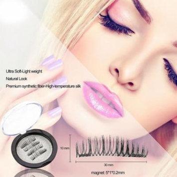 Oak Leaf Magnetic eyelashes New Dual Magnetic False Eyelashes - Ultra Thin 3D Fiber Reusable Black magnetic eyelashes no glue needed 4PCS/2 Pairs