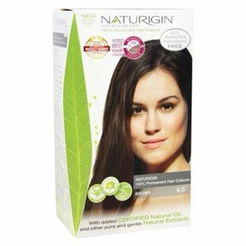 100% Permanent Hair Colour Brown 4.0 - 3.9 fl. oz. by Naturigin (pack of 6)