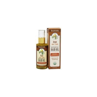 Hair Oil Botanical For Dry & Damaged Hair Argan, Jojoba & Baobab - 2 fl. oz. by Badger (pack of 3)