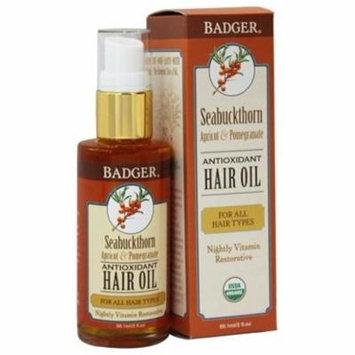 Hair Oil Antioxidant For All Hair Types Seabuckthorn, Apricot & Pomegranate - 2 fl. oz. by Badger (pack of 2)