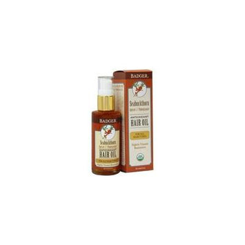 Hair Oil Antioxidant For All Hair Types Seabuckthorn, Apricot & Pomegranate - 2 fl. oz. by Badger (pack of 4)