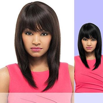 Foxy Lady Long Straight Human Hair Full Wig - Damian Color 1B Off Black